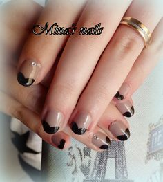 Anthis nails look lovely nude and black hearts!!!!!!!!!!!