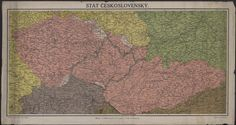 Zobrazuje československé území před ustálení hranic se sousedními státy, 1918