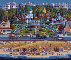 Martha's Vineyard by Eric Dowdle is a fun beach scene full of great summer memories and fun. Now available as a Dowdle Puzzle!