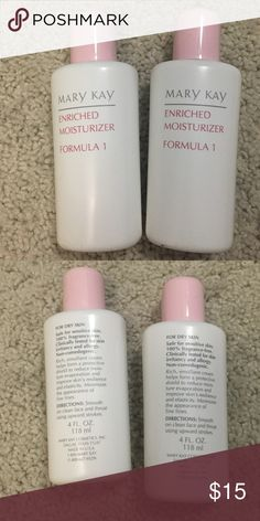 Mary Kay enriched moisturizer Formula 1 dry skin Two in stock. Brand new never used. Selling each for $15 a piece. Mary Kay Other