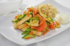 #Secondo piatto di #pollo #con verdure