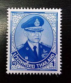 Thai Stamp 1 Baht King Rama 9 Never & Light Hinged Collection #1