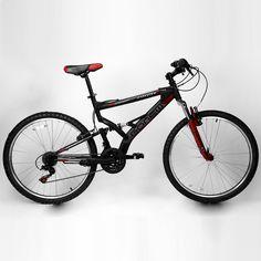 Bicicleta Gonew ENDORPHINE 5.7 Grip Shifter - Shimano Alumínio Aro 26 - Full Suspension 2015 Preto e Vermelho   Netshoes