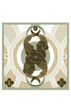 The Double Knot, Design Temple graphic art print
