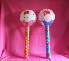 2-Lollipop-Sucker-Inflate-inflatable-kids-Birthday-Cupcake-CANDY-3-foot-prop