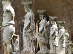 Sculpture at Hadrian's Villa / Villa d'Este, Tivoli. One of the greatest gardens of the Roman civilisation, where architectural and sculptural form provided inspiration for garden designers in eras to come.