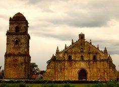 This church is made of corals! Ilocos, Old Churches, Corals, Barcelona Cathedral, Notre Dame, Philippines, Spanish, Island, Building