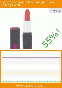 Collection Rouge à lèvre longue durée Lasting Colour (Beauté et hygiène). Réduction de 55%! Prix actuel 6,27 €, l'ancien prix était de 13,98 €. https://www.adquisitio.fr/collection/rouge-l%C3%A8vre-longue-dur%C3%A9e-6