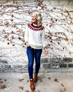 f2d8d0f6412 Fair Isle forever Love the soft cable knit of this relaxed fit sweater...  Holiday ...