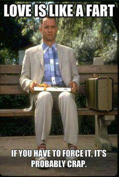 "Tom Hanks ""Love is like a box of chocolate"""