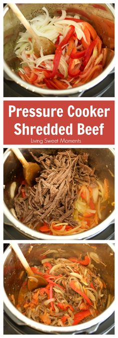 This Venezuelan Shredded Beef recipe (carne mechada) is ready in no time using the Instant Pot pressure cooker. The perfect quick weeknight dinner idea! More on livingsweetmoments.com