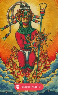 Aztec Religion, King Of Wands, Art Chicano, Living In Mexico City, Aztec Symbols, Aztec Culture, Giddy Up Glamour, Aztec Art, Spirituality