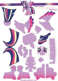 My pony Papercraft Pattern designs and photos!(and tutorials) These are based on characters from the (C) hasbro´s /lauren Faust animated series of my little pony, MLP Friendship is Magic Have fun b. My Little Pony Party, My Little Pony Craft, Imagenes My Little Pony, Paper Art, Paper Crafts, Little Poni, Princess Twilight Sparkle, My Little Pony Friendship, Paper Models