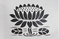 Sanjhi - The art of papercutting Madhubani Art, Madhubani Painting, Stencil Patterns, Stencil Designs, Henna Patterns, Seashell Shadow Boxes, Notan Design, Paper Plate Awards, Flower Silhouette
