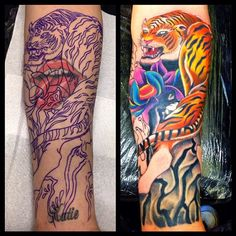 Coveruptattoo tigertattoo colourtattoo brownstattoos