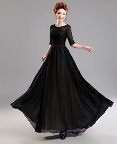 d29f4745b29b1 Cheap dress code, Buy Quality dress cake directly from China dress jeans  Suppliers: New Fashion A-Line Elegant Black Beaded Lace Long Evening Dress  2015 ...