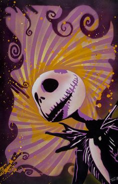 *JACK SKELLINGTON (Painting) ~ The Nightmare Before Christmas, 1993