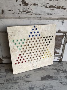 Vintage Chinese Checker Board Home Made Formica Marble Top Beige Marble, Marble Top, China Platter, Vintage Hotels, Daisy Pattern, Mccoy Pottery, Vintage Children, Rustic Style, Decoration