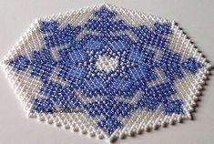 Doily crystall-snowflake (nr. 3) 16 cm / Centrino cristallo-fiocco di neve / Decke Kristall-Schneeflocke