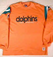 Miami Dolphins NFL Reebok Gridiron Classic Vintage Style Sweatshirt Men's L