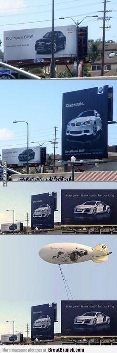 Audi vs BMW advertising war