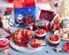 #miniature #food #minifood #christmas #cherry #pie #cookies #cherries