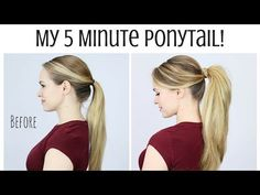 My 5 Minute Ponytail Routine A quick and easy hair tutorial to change your ponytail forever!