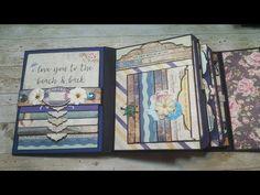 Tutorial #1 St Tropez Scrapbook Mini Album ( Design team project CCC ) - YouTube