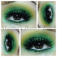 Green Smokey glitter eyeshadow Sparkly Eyeshadow, Glitter Eye Makeup, Kiss Makeup, Eyeshadow Makeup, Beauty Makeup, Hair Makeup, Makeup Tips, Makeup Ideas, Perfect Winged Eyeliner
