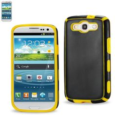 Reiko Samsung Galaxy S3 Slim Commute Case In Black Yellow //Price: $16.99 & FREE Shipping //     #mobileaccessories #phonecases
