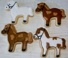 Horse cookies by The Sugar Gals www.facebook.com/SugarGals
