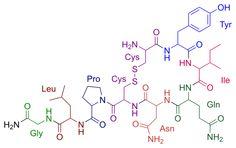 "Oxytocin- the ""love molecule"" use as cross stitch pattern"