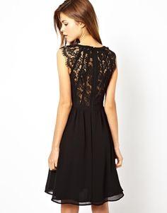 Warehouse Lace Back Soft Skirt Dress   Bridesmaid dress inspiration