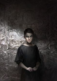 The Bone Carver by Charlie-Bowater.deviantart.com on @DeviantArt