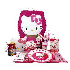 Hello Kitty doğum günü parti malzemeleri seti