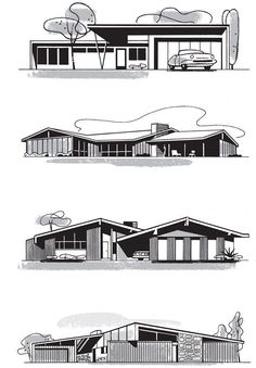 Mad for Mid-Century: Mid-Century Home Illustrationsmid century modern architecture