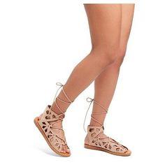 Women's Nadine Gladiator Sandals Mossimo Supply Co. - Blush 8.5