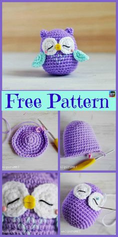 12 Cutest Crochet Amigurumi Owl Free Patterns - DIY 4 EVER Everyone loves owls, and they are one of our favorite animals! So why not learn how to make a adorable Crochet Amigurumi Owl for your child ? Cute Crochet, Crochet Crafts, Crochet Dolls, Crochet Projects, Knit Crochet, Diy Projects, Crochet Tutorials, Chrochet, Owl Crochet Patterns