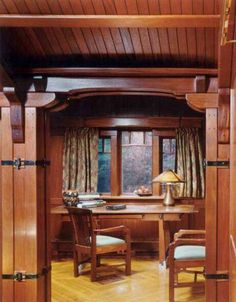 Here's a quaint office space for writing that novel or designing your next arts & crafts home.
