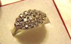 Vintage Princess Diamond Ring/ White Gold/Engagement/Wedding/Right Hand Vintage Wedding Rings 1920, Vintage Rings, Vintage Jewellery, Antique Rings, Diamond Rings, Diamond Cuts, Halo Rings, Ring Tattoos, Jewelry Showcases