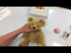 Part 13 Tutorial How to attach ears to handmade bears - YouTube