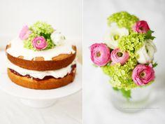 Vanilla and raspberry birthday cake