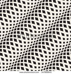 Wavy crossed stripes seamless pattern 3D. Abstract fashion texture. Geometric monochrome template. Graphic style for wallpaper, wrapping, fabric, background, apparel, prints, website, blog etc. Vector