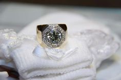 3.46 carat I colour VVS1 clarity custom made in 18K gold