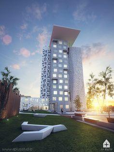 SD_01 #architecture #visualization #digitalart #render #exterior #student #dormitory