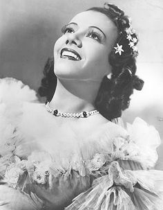 Lily Pons (1898-1976) French American soprano and actress who married Andre Kostelanetz, conductor of the New York Symphony.