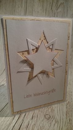 Learn more about Christmas card ideas . - Petra Homepage - Discover more about Christmas Card Ideas Learn more abou - Homemade Christmas Cards, Christmas Tree Cards, Christmas Star, Handmade Christmas, Homemade Cards, Holiday Cards, Christmas Crafts, Christmas Decorations, Karten Diy
