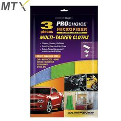 Cleans, Shines, Polishes Scratch-Free and Lint-Free Color-Coded to prevent cross-contamination Microfiber Normal Cloths Lifts and traps dirt and moisture. Push dirt around the surface Car-Motorcycle-Home