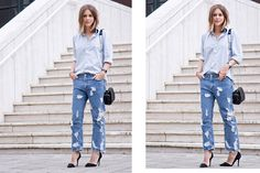 love the boyfriend jeans and heels