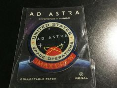 [DISCOUNT] $5.0 Ad Astra Movie 2019 Promo Patch Badge IMAX @ Regal #Movie_Posters_for_Sale #Theatre_Memorabilia_for_Sale #Theater_Posters_for_Sale